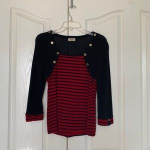 Fiofo Festive red and black blouse ❤️